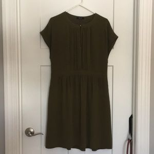 Madewell olive green dress